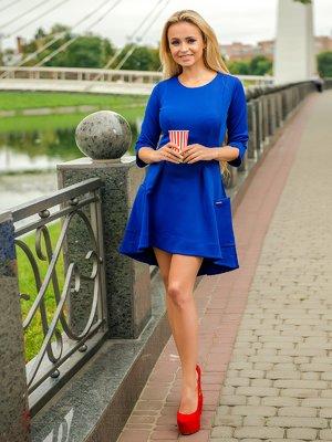 Платье цвета электрик | 3646149