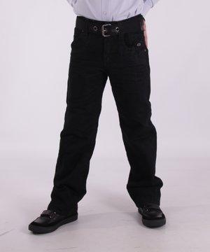 Джинсы черные на флисе | 3779430