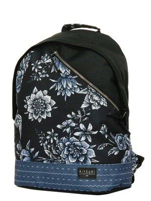 Рюкзак черный в цветочный принт | 3784402