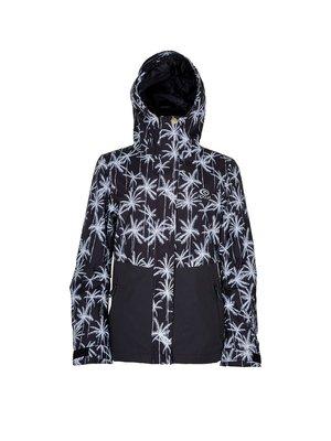 Куртка чорна з принтом | 3784428