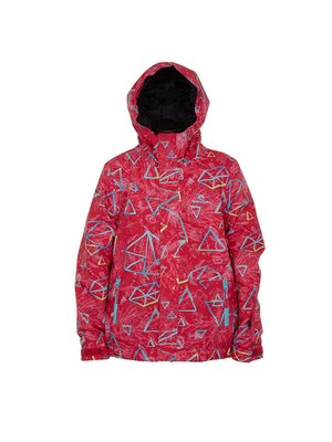 Куртка красная в принт | 3784436