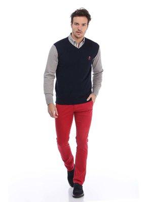 Пуловер двухцветный | 3788351