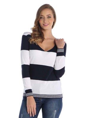 Пуловер в полоску | 3788499