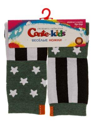 Шкарпетки кольору хакі | 3750399