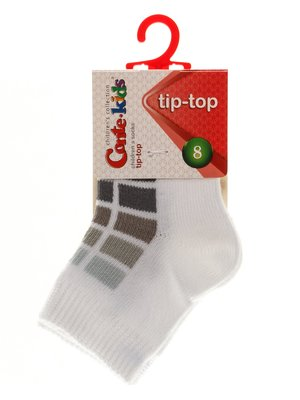 Носки бело-серые | 3750272