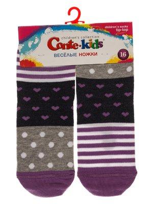 Шкарпетки сіро-бузкові | 3750392