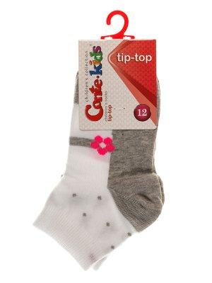 Шкарпетки біло-сірі | 3750235