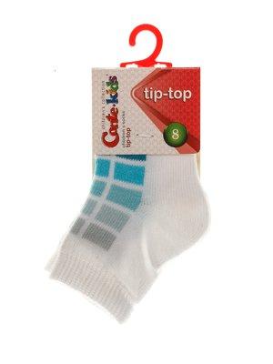 Шкарпетки біло-бірюзовий | 3750269