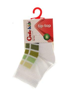 Шкарпетки біло-салатові | 3750271