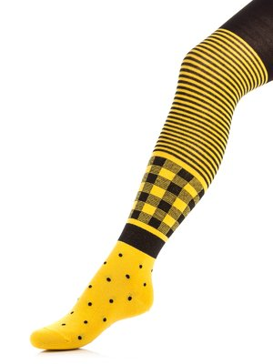 Колготки жовті з візерунком | 3750056
