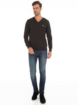 Пуловер цвета антрацит | 3791179