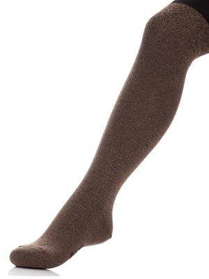 Колготки кольору чорно-кавові | 3750139