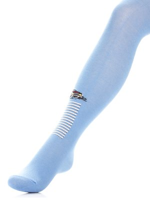 Колготки блакитні з принтом | 3750471