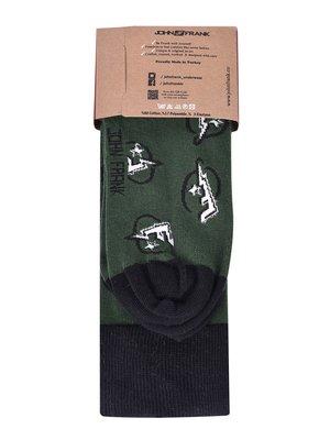 Носки зеленые в рисунок | 3796788