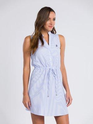 Платье голубое в полоску | 3797045