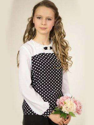 Блуза чорно-біла в горох | 3800259