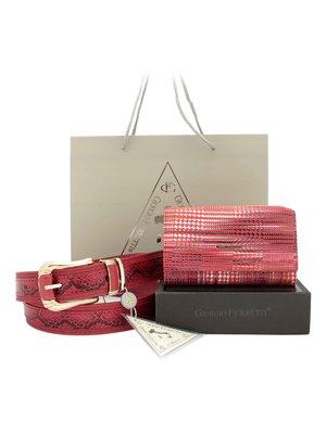Набір: гаманець, ремінь і фірмовий пакет | 3800196