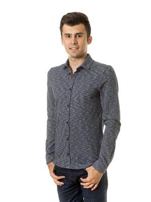 Рубашка темно-синяя | 3800747