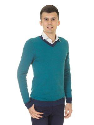 Пуловер бирюзовый   3800753