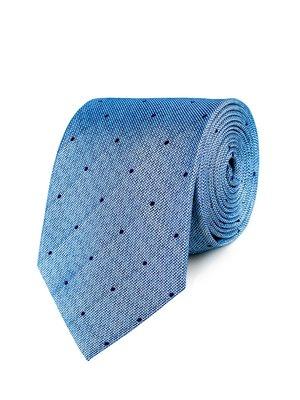 Краватка блакитна в горох | 3800813