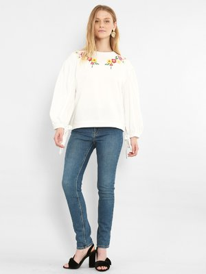 Свитшот белый с вышивкой | 3786596