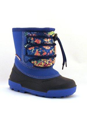 Полусапожки синие в принт | 3809537