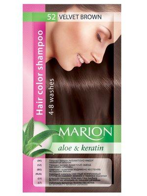 Оттеночный шампунь Marion Color №52 - бархатный коричневый (40 мл)   3809496