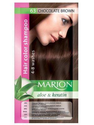 Оттеночный шампунь Marion Color №63 - шоколадный коричневый (40 мл)   3809502