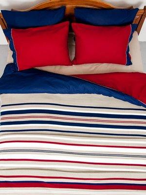 Комплект постельного белья двуспальный (евро) с пледом | 3802225