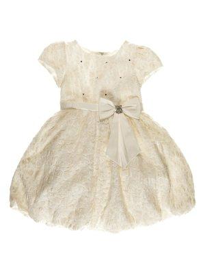 Платье молочного цвета бальное | 3799528