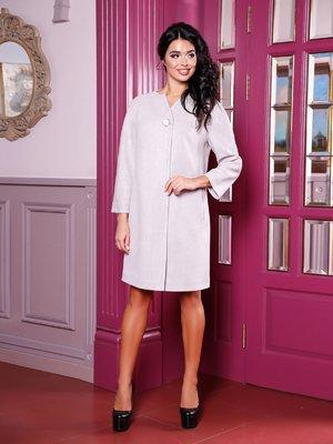 Пальто сіро-фіолетове   3810522
