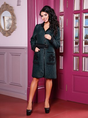 Пальто зеленое | 3810595