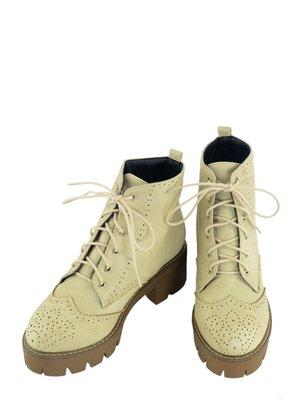 Ботинки кремового цвета | 3810791