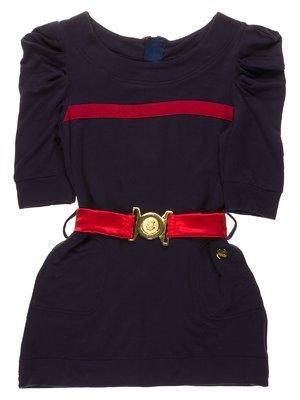 Сукня синя з контрастинм оздобленням - Pinetti - 3799524