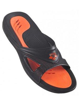 Шлепанцы черно-оранжевые | 3808536