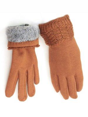 Перчатки светло- коричневые   3813238