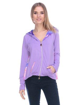 Кофта фіолетова з принтом   3800405