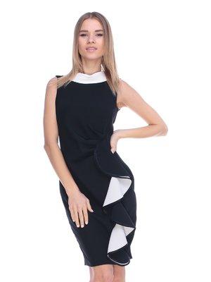 Платье черное с воланом | 3054189