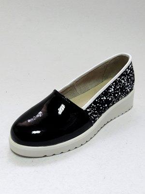Туфлі чорні з принтом | 3039913