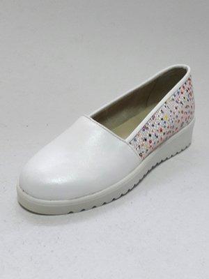 Туфлі біло-рожеві з принтом | 3039914