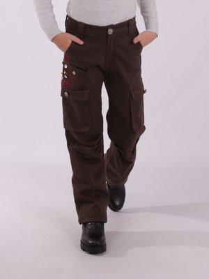 Штани коричневі утеплені | 3814271