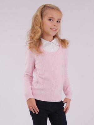 Джемпер-обманка розовый | 3814273
