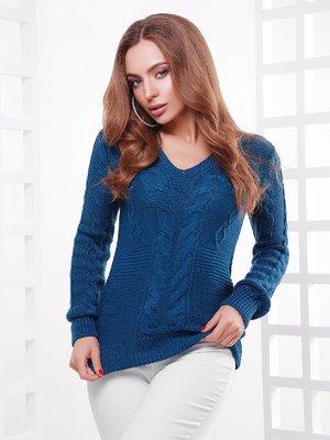 Пуловер цвета морской волны | 3822987