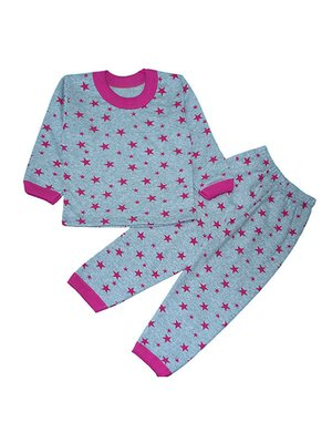 Піжама з начосом: лонгслів і штани | 3765136