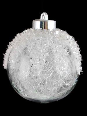 Куля з наповнювачем з білого дощику (8 см) | 3826447