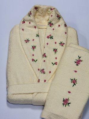 Комплект махровий: халат та рушник | 3826298