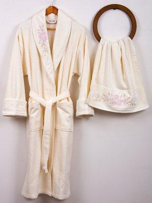 Комплект махровий: халат та рушник | 3826299