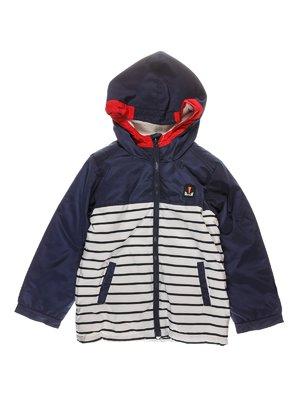 Куртка темно-синя в смужку | 3826002