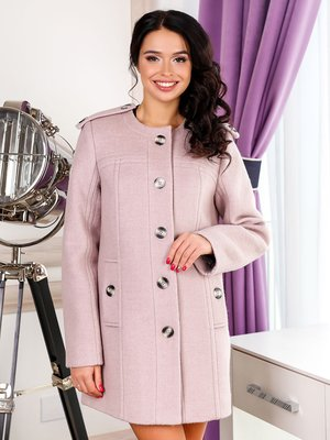 Пальто розовое   3831001