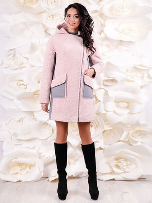 Пальто серо-розовое | 3831004